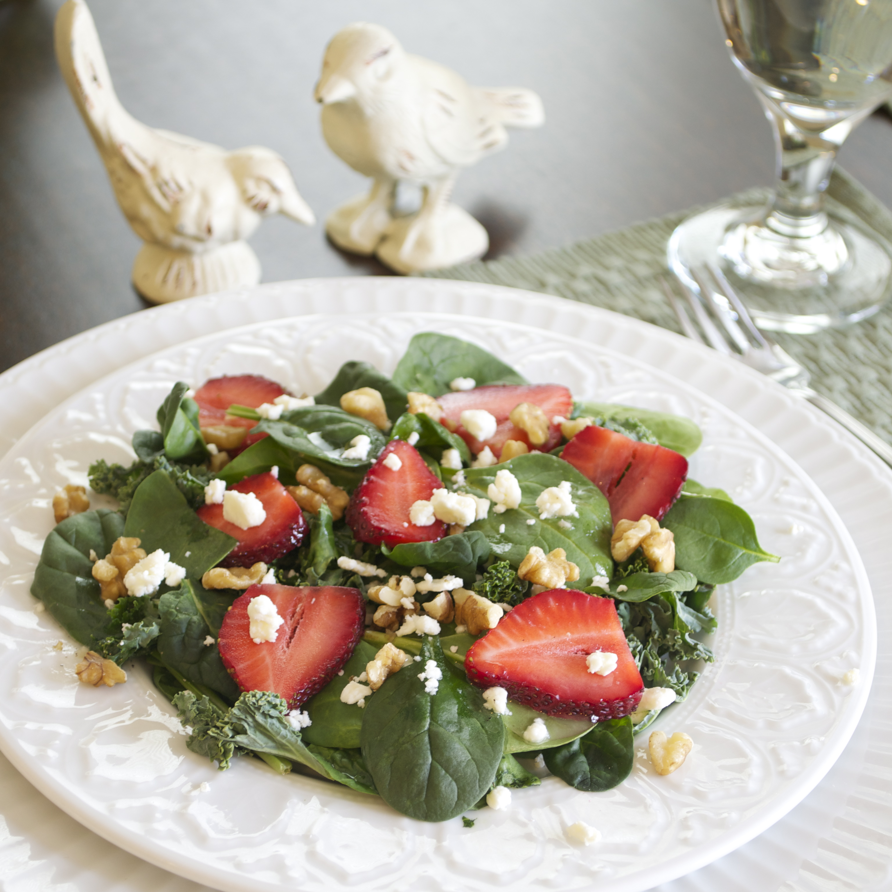spinach and kale spring salad | pick fresh foods | pick